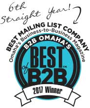 voted best mailing list company from B2B
