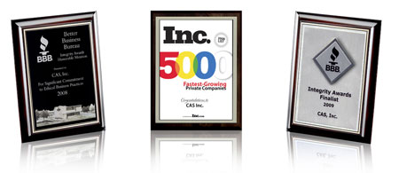 Award Winning Inc5000 Honesty Integrity Awards for Mailing List Company